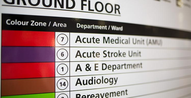 Hospital signage visiting hours covid-19