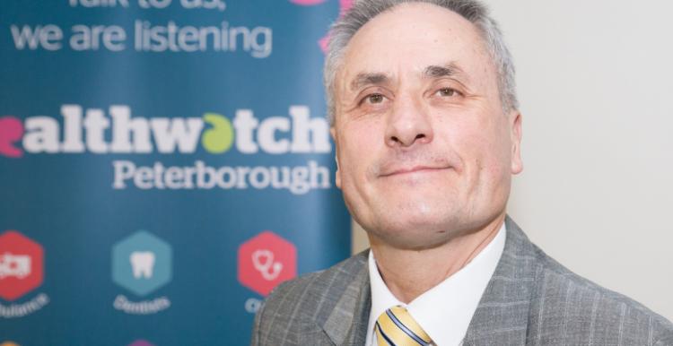 man at Healthwatch Peterborough event