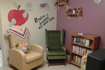Picture shows room in a care home