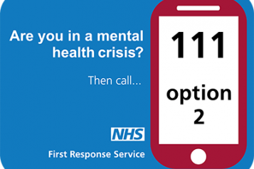 graphic of NHS 111 number