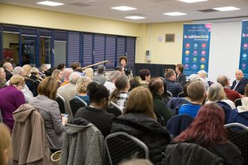 Picture shows crowded room at our event
