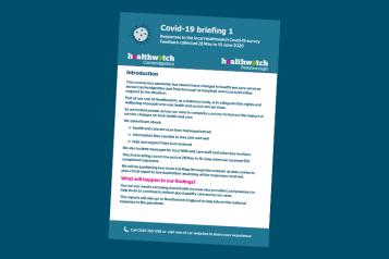 healthwacth cambridgeshire covid-19 briefing