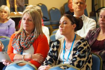People at Healthwatch event