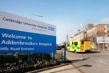 Outside of Addenbrooke's Hospital