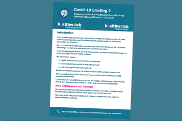 healthwatch cambridgeshire covid-19 briefing 2