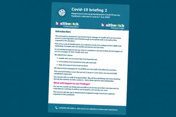 healthwatch cambridgeshire covid-19 briefing 2