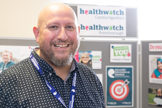 Healthwatch team member Graham Lewis