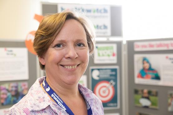 Healthwatch team member Carole Rose