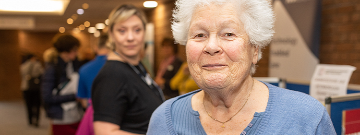 Picture shows woman at Healthwatch event