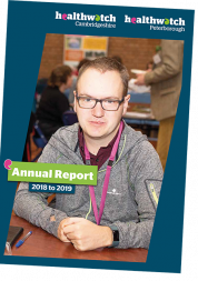 Picture shows cover of annual report