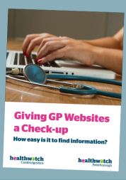 cover of Giving GP Websites a Check-up Report